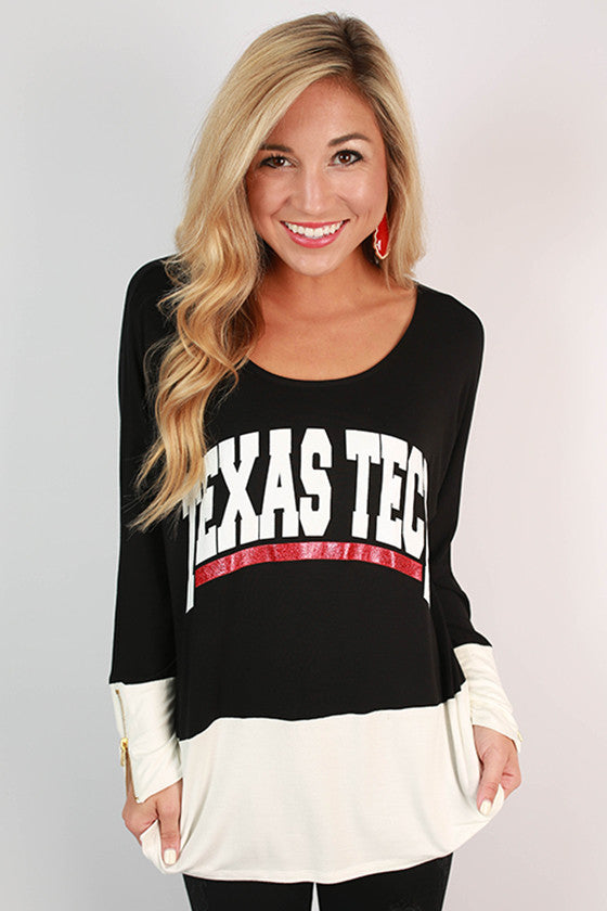 Texas Tech University Color Block Tunic