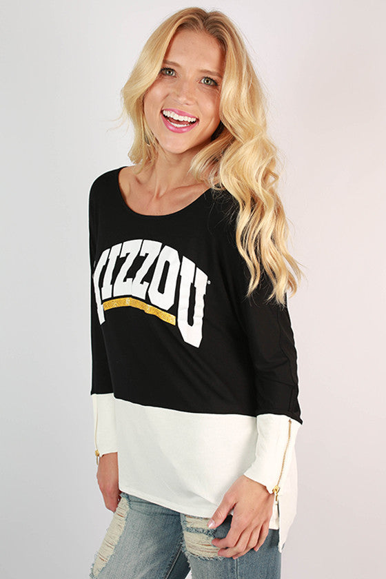 University of Missouri Color Block Tunic