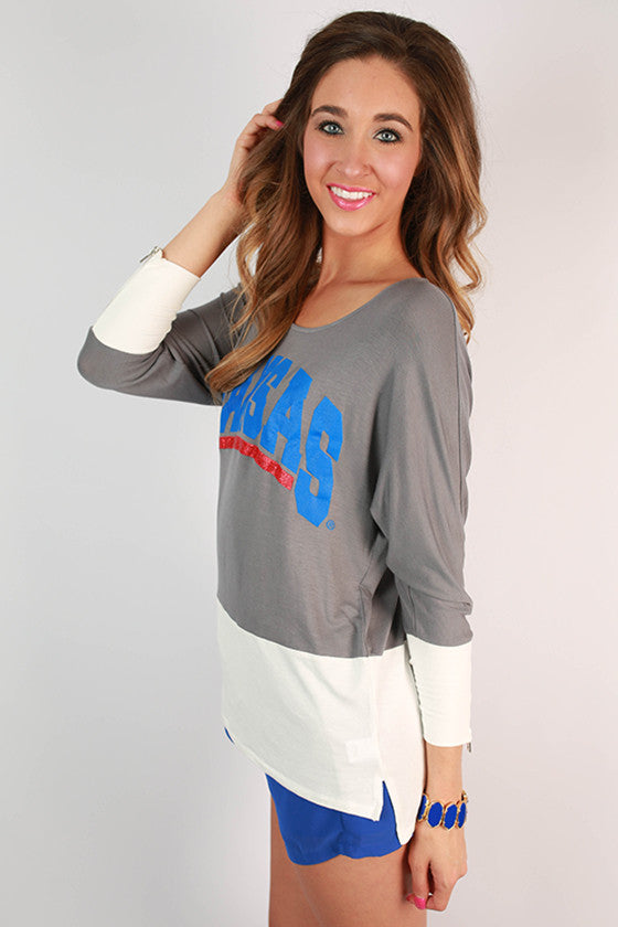 University of Kansas Color Block Tunic