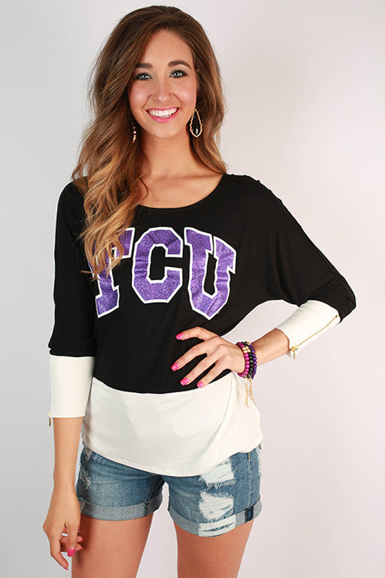 Texas Christian University Color Block Tunic
