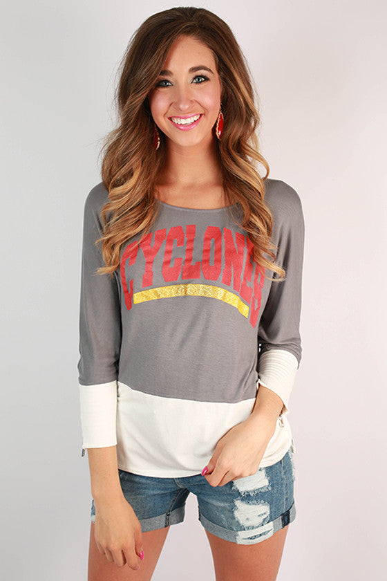 Iowa State University Color Block Tunic