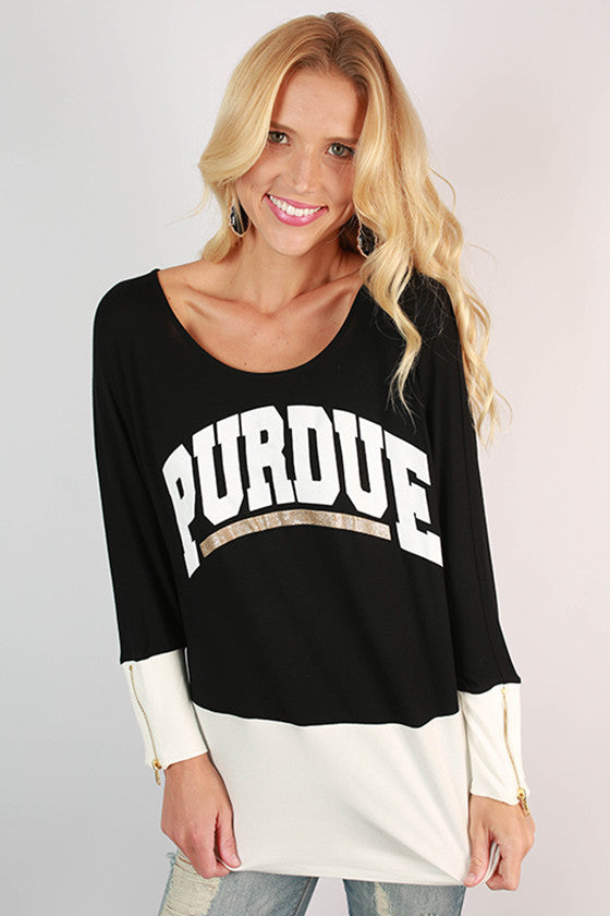 Purdue University Color Block Tunic