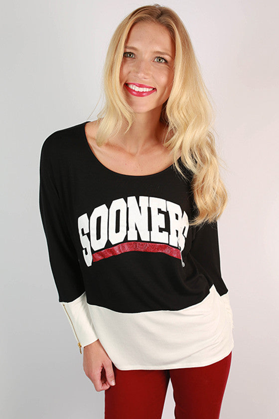 University of Oklahoma Color Block Tunic