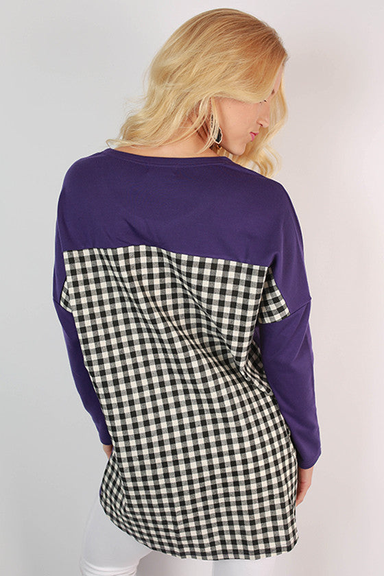 Kansas State University Gingham Tunic