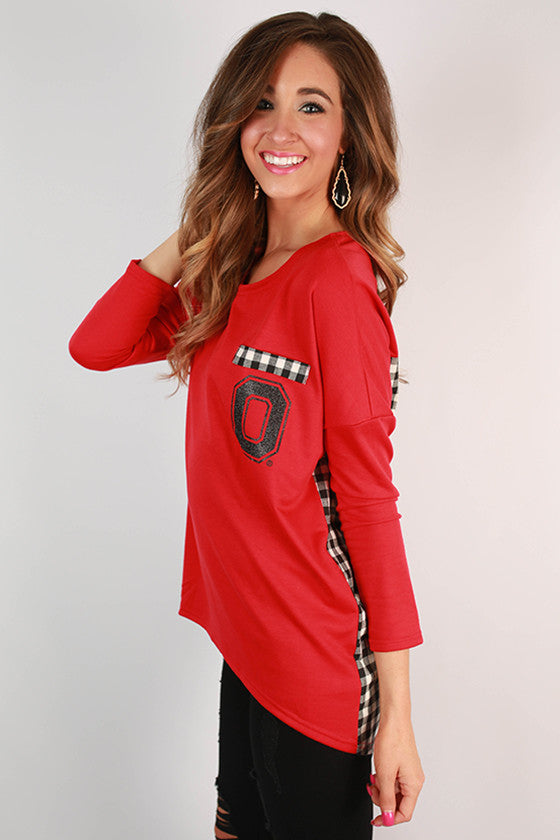 Ohio State University Gingham Tunic