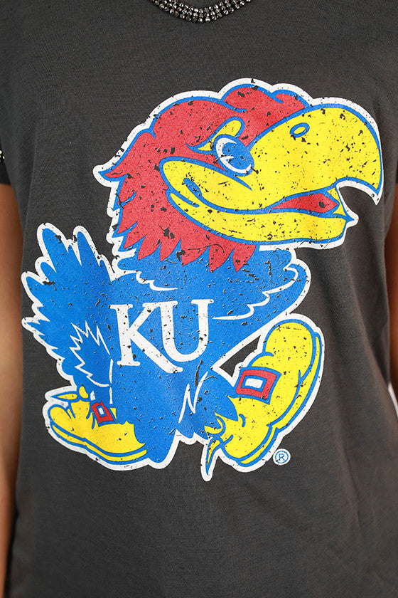 University Of Kansas Boyfriend V-Tee