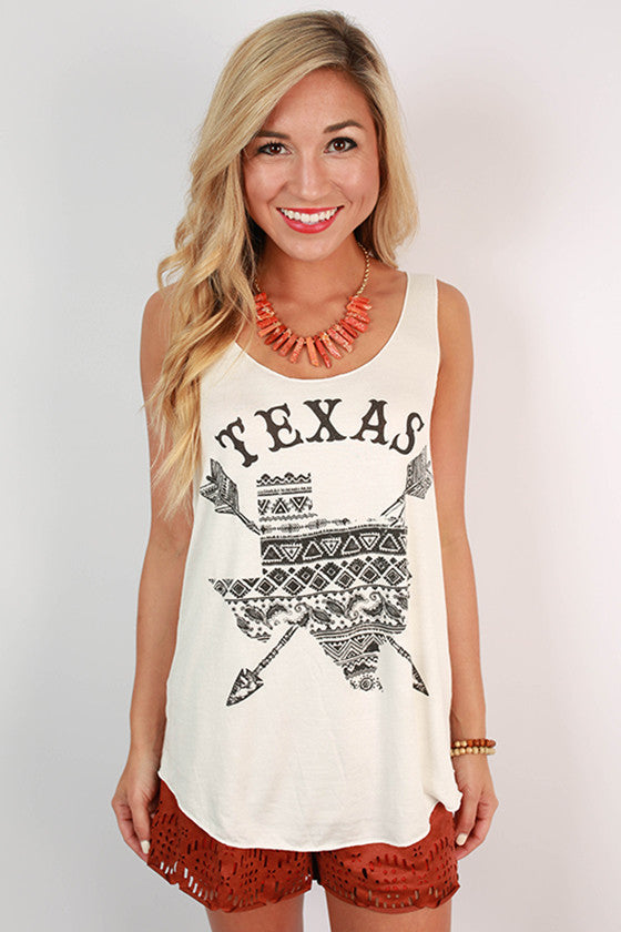 Oh Sweet Texas Tank in White