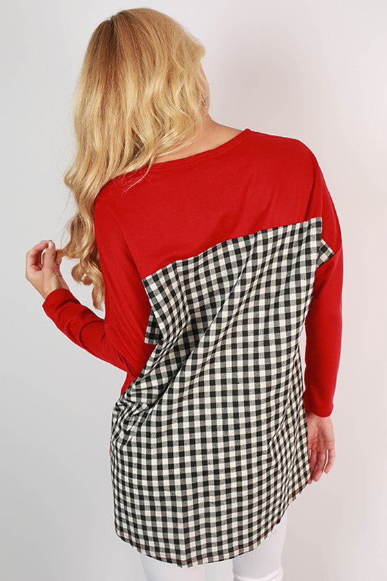 Iowa State University Gingham Tunic