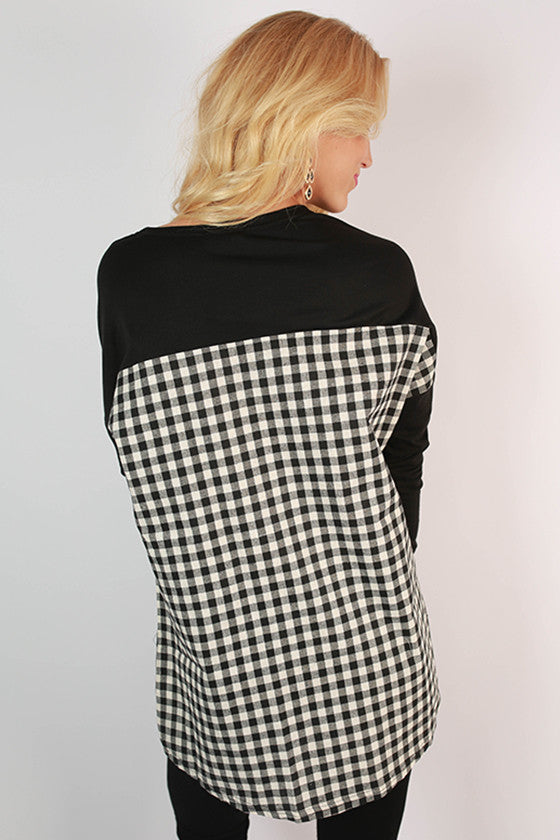 University of Iowa Gingham Tunic