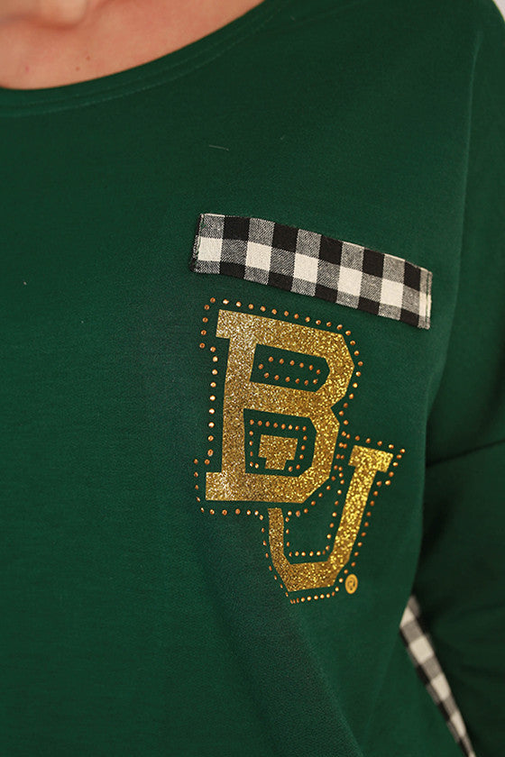 Baylor University Gingham Tunic