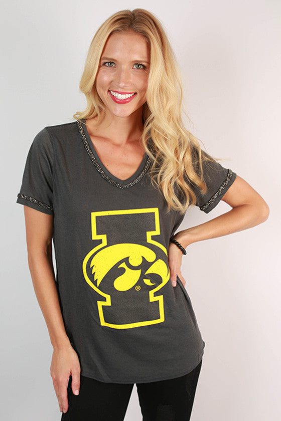 University Of Iowa Boyfriend V-Tee