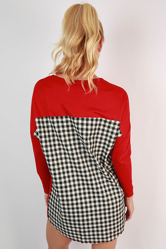 University of Oklahoma Gingham Tunic