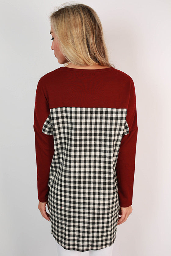 Texas A & M Gingham Tunic