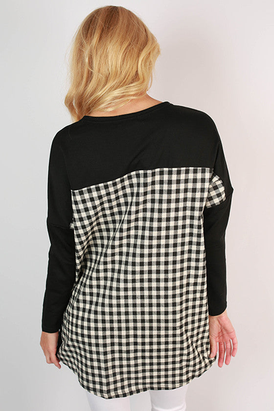 University of Southern Mississippi Gingham Tunic