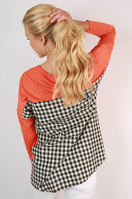 University of Illinois Gingham Tunic