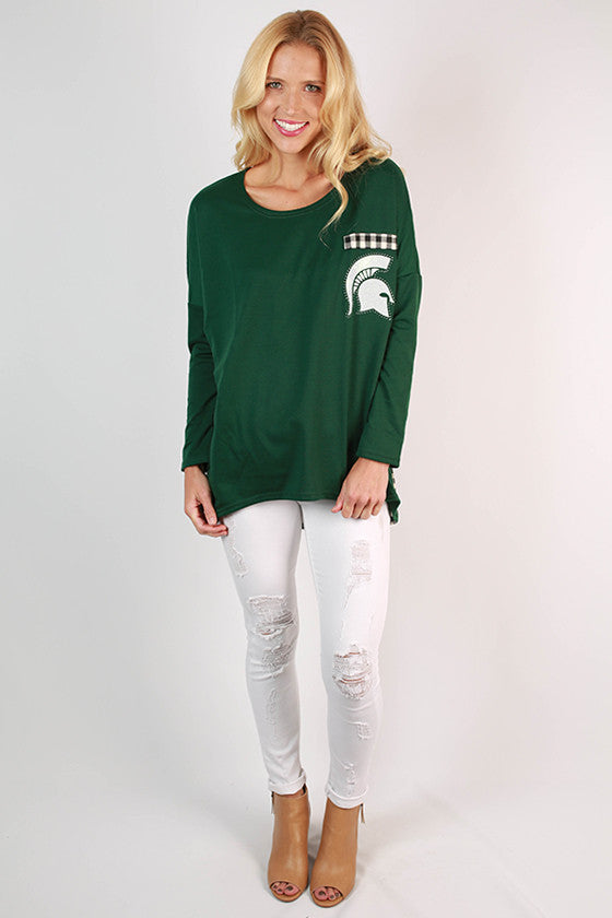 Michigan State University Gingham Tunic