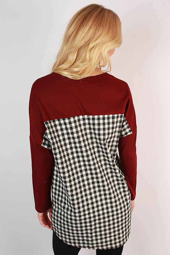 Arizona State University Gingham Tunic