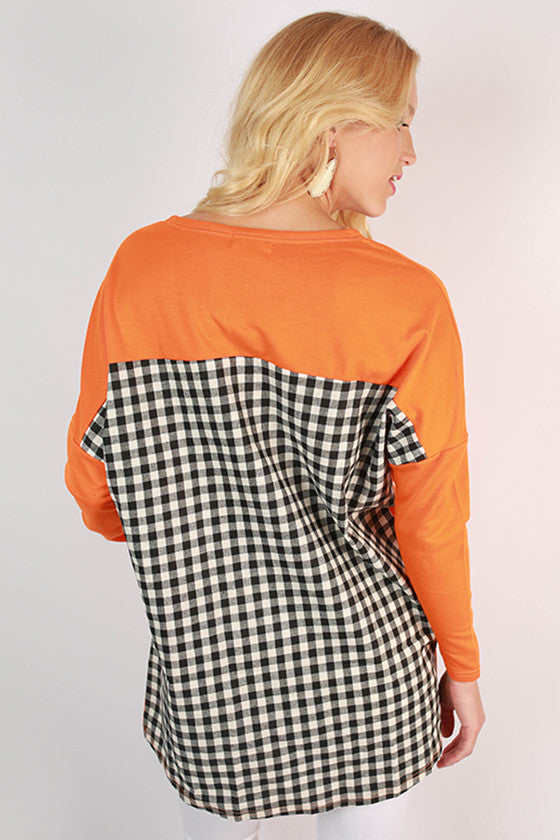University of Tennessee Gingham Tunic