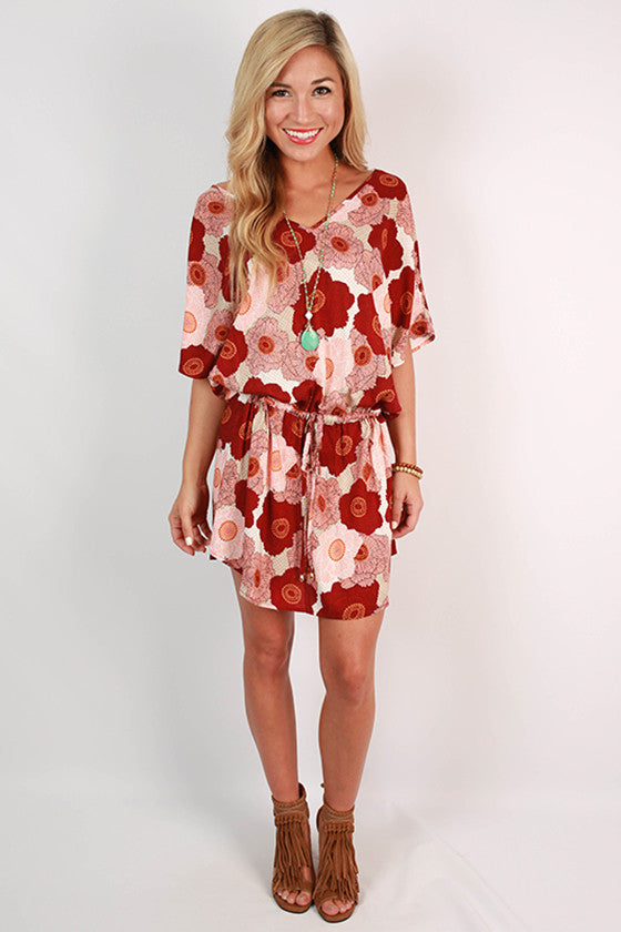 Southern Fields Floral Dress