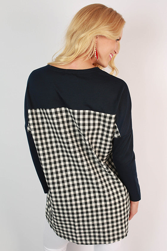 University of Arizona Gingham Tunic