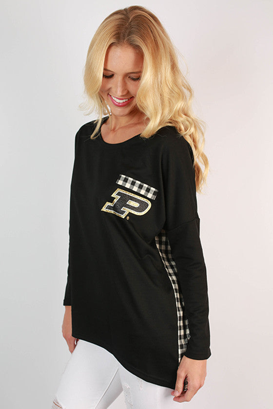 Purdue University Gingham Tunic