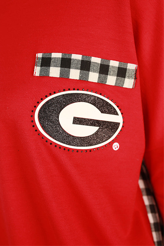 University of Georgia Gingham Tunic