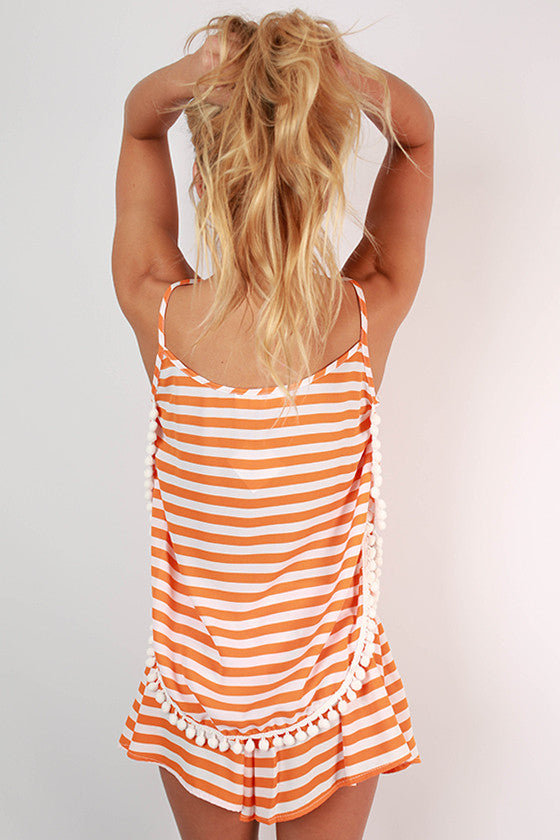 Saturday Special Stripe Tank in Apricot