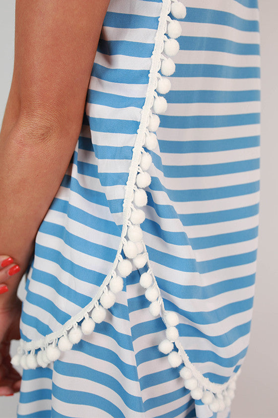 Saturday Special Stripe Tank in Sky Blue