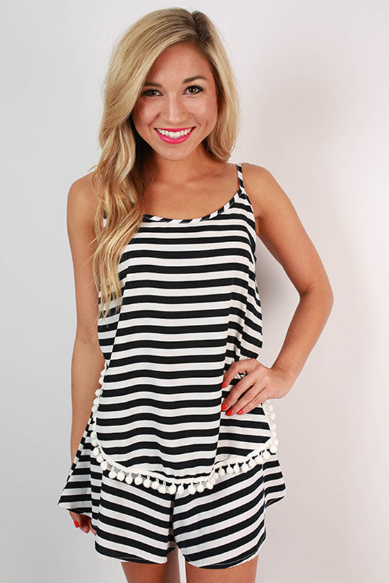 Saturday Special Stripe Tank in Navy