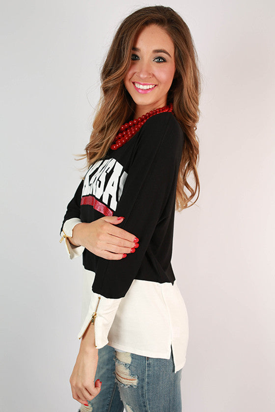 University of Arkansas Color Block Tunic