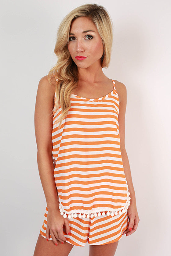 Saturday Special Stripe Shorts in Apricot
