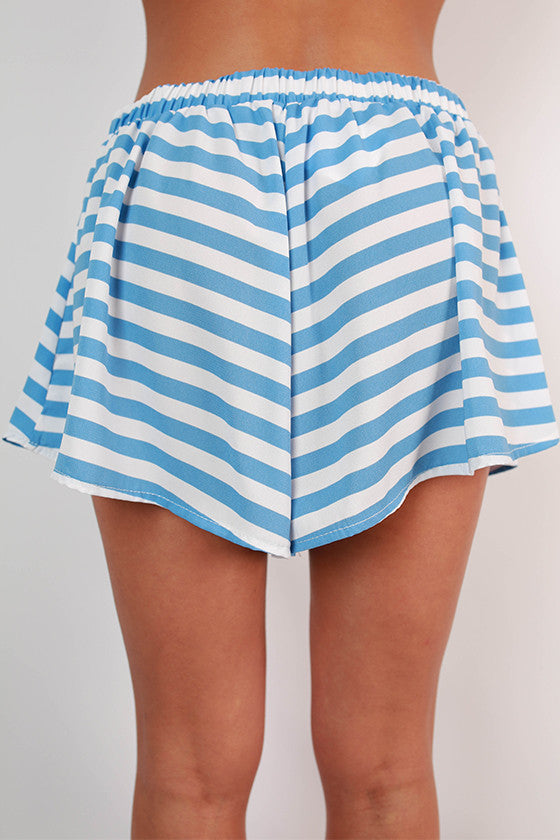 Saturday Special Stripe Shorts in Sky Blue