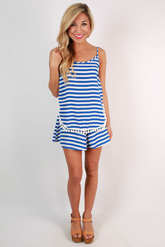 Saturday Special Stripe Shorts in Blue