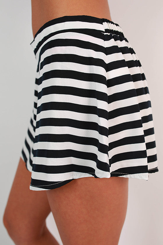 Saturday Special Stripe Shorts in Navy