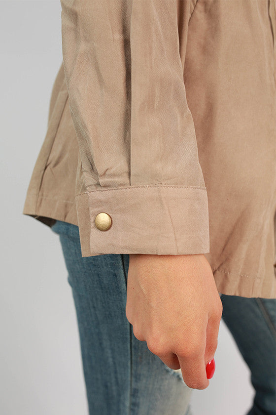 Soho Skies Lightweight Jacket in Taupe