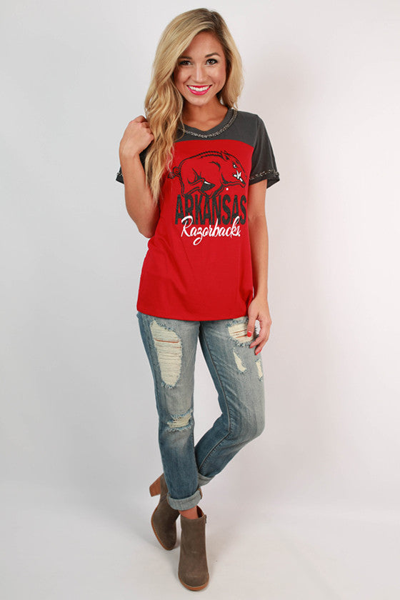 University of Arkansas Football Burnout Tee