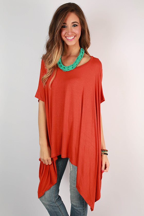 Road Less Traveled Tunic in Burnt Orange