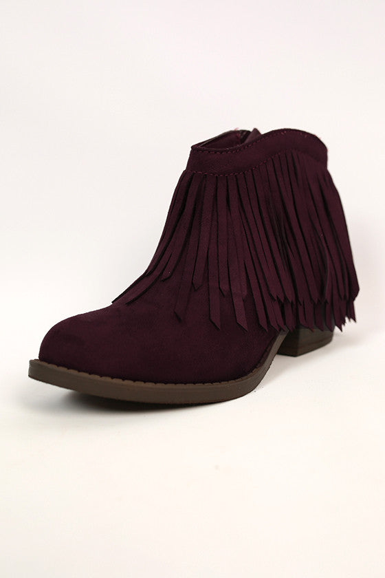 Get It Started Fringe Bootie
