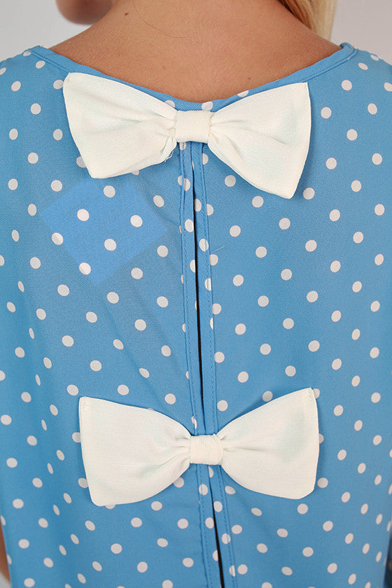 Friday Special Polka Dot Top in Sky Blue