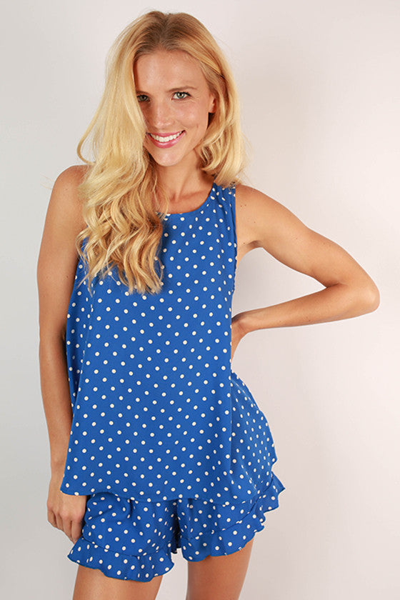 Friday Special Polka Dot Top in Blue