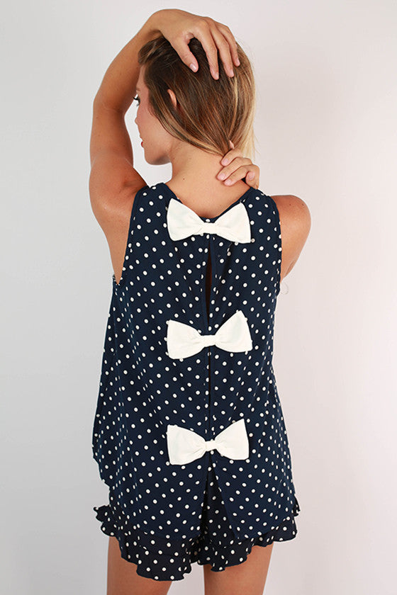 Friday Special Polka Dot Top in Navy