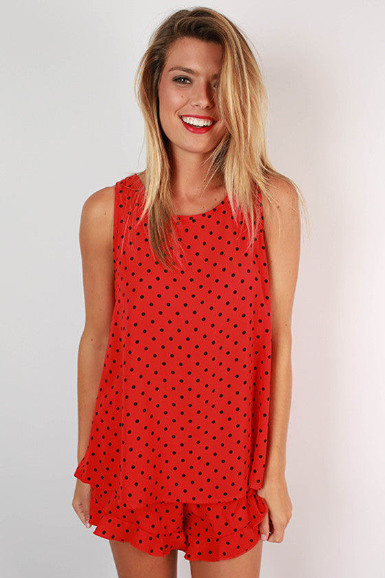 Friday Special Polka Dot Top in Red