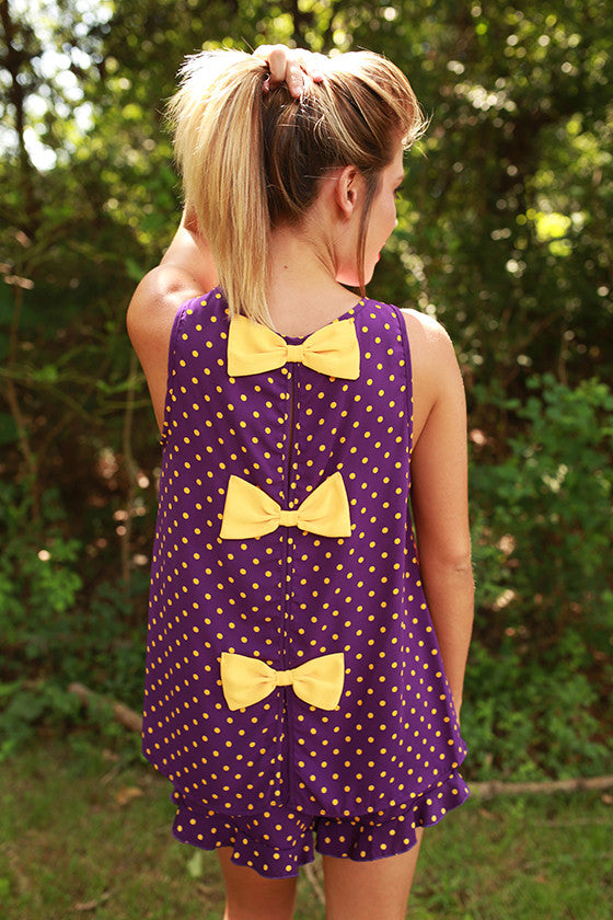 Friday Special Polka Dot Top in Purple