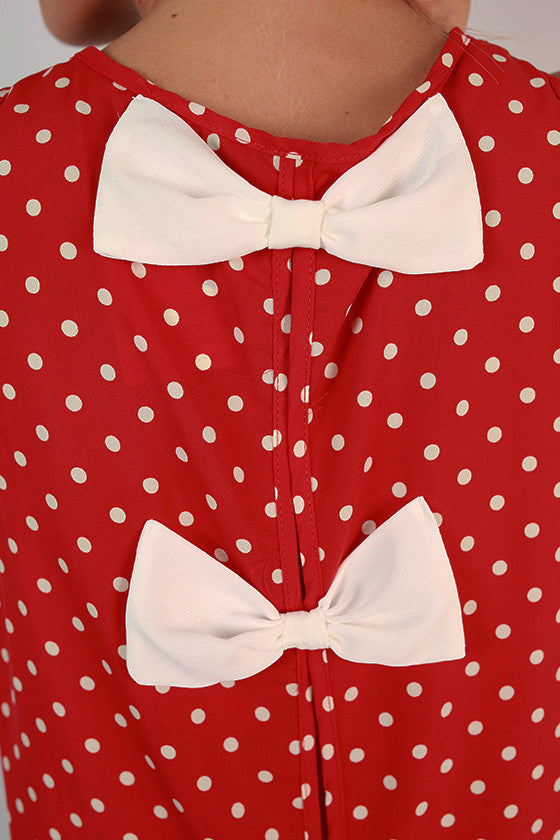 Friday Special Polka Dot Top in Cardinal