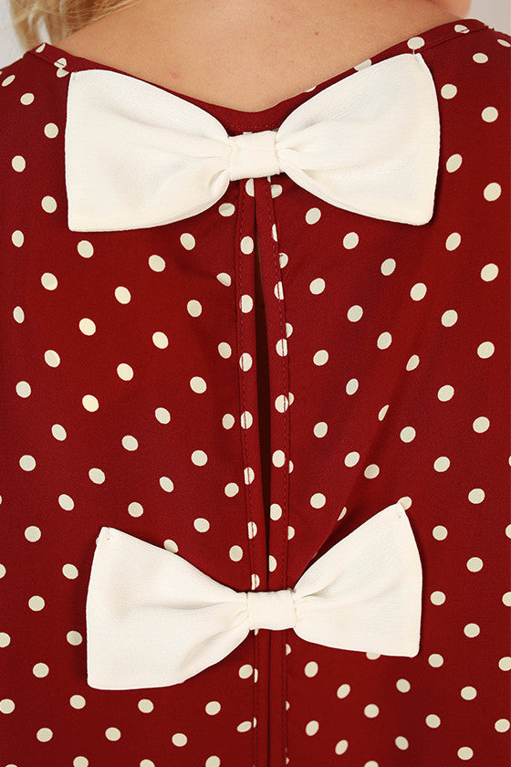 Friday Special Polka Dot Top in Maroon
