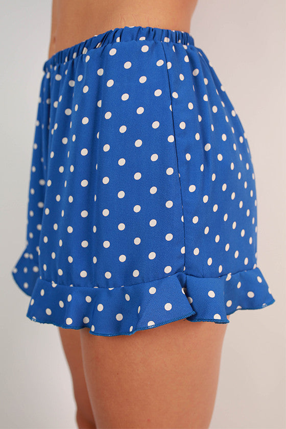 Friday Special Polka Dot Shorts in Blue
