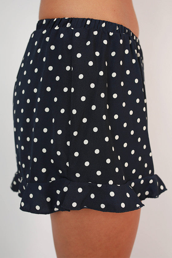 Friday Special Polka Dot Shorts in Navy
