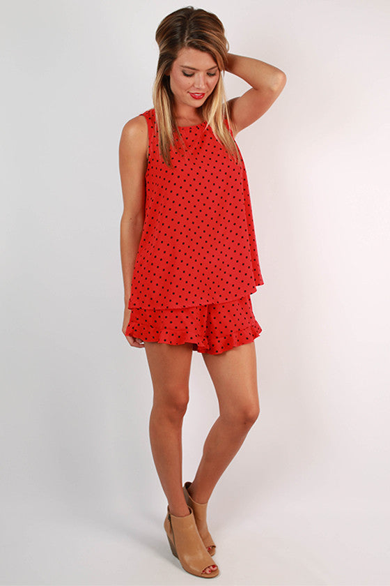 Friday Special Polka Dot Shorts in Red