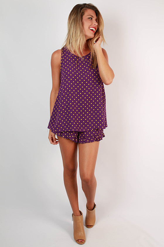 Friday Special Polka Dot Shorts in Purple