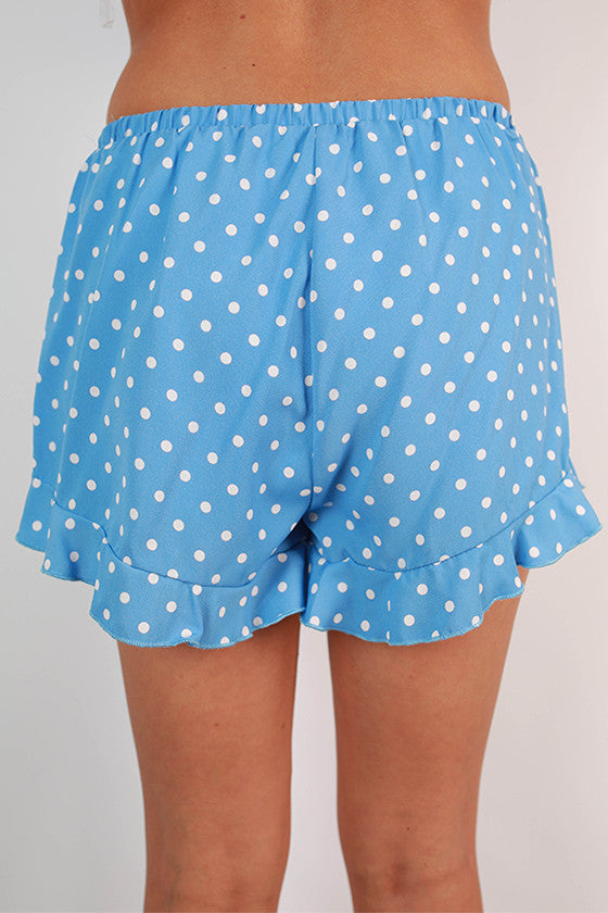 Friday Special Polka Dot Shorts in Sky Blue
